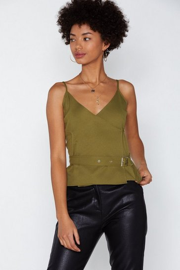 Womens Khaki Bring the Noise Cami Top