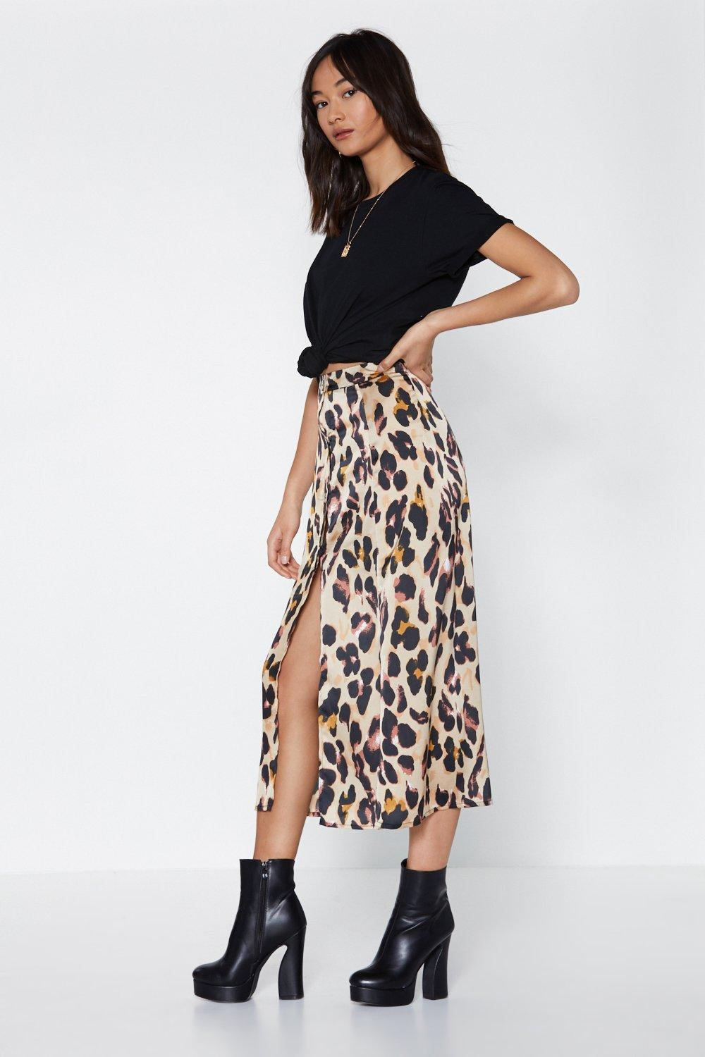 original low cost complimentary shipping Drive Me Wild Leopard Midi Skirt | Shop Clothes at Nasty Gal!