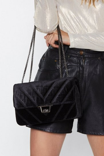Womens Black WANT Luxe Good Babe Velvet Bag