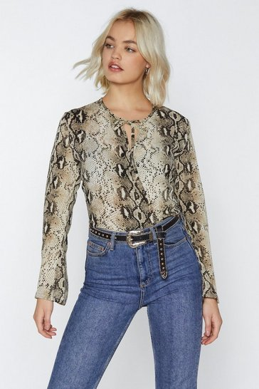 Womens Natural Snakebite Love Blouse