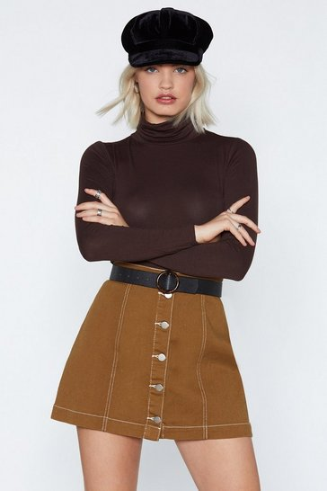 Chocolate Oh Heck Turtleneck Bodysuit