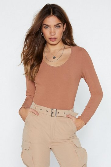 Womens Toffee Action Talks Bodysuit
