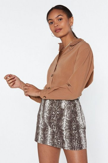Womens Tan Hit 'Em Where it Shirt