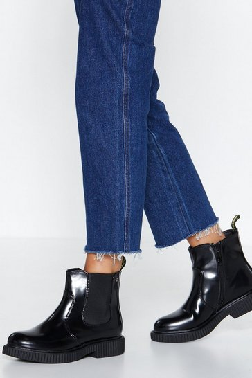 Womens Black You Move Me Chelsea Boot