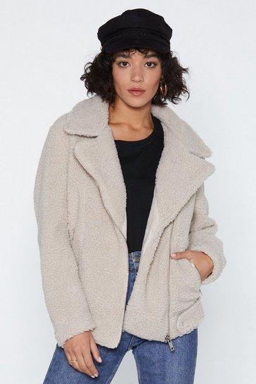 Cream Teddy Oh Baby Faux Fur Coat