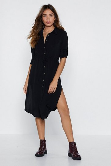 Black It Never Shirts to Ask Shirt Dress