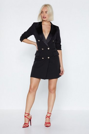 Womens Black Tie Affair Blazer Dress