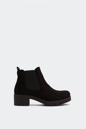 Womens Black Suited and Booted Chelsea Boot