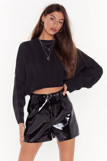 Womens Black Spread Your Wings Batwing Sweater