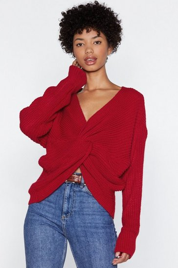Red Twist You Already Sweater