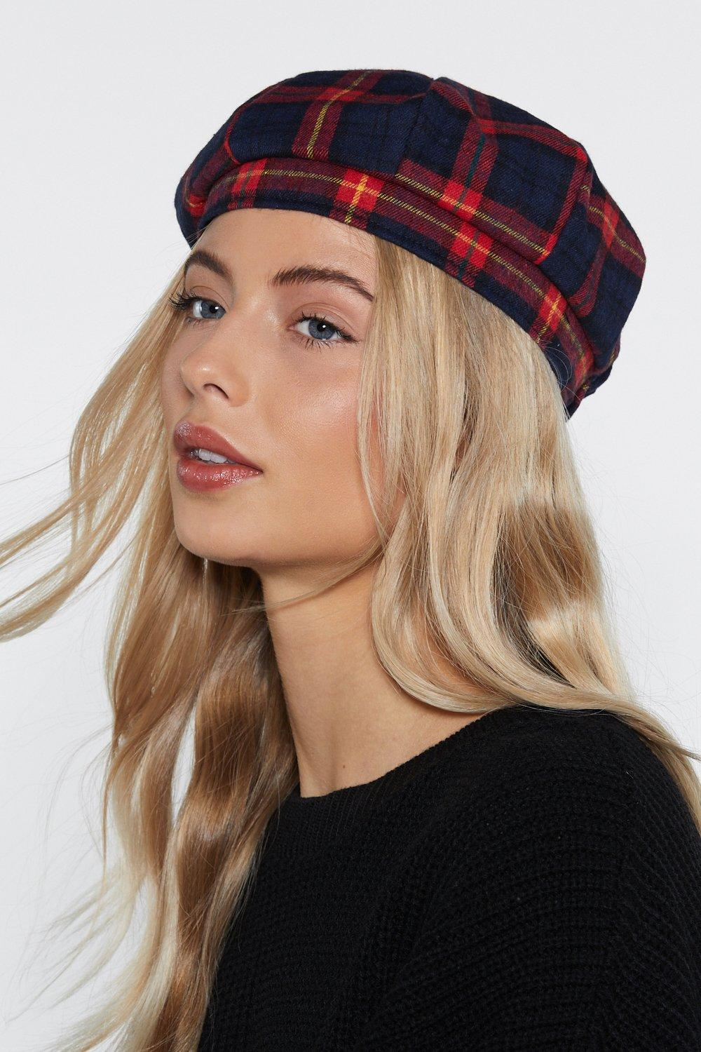 fce166411387f Stay On Top Plaid Beret | Shop Clothes at Nasty Gal!