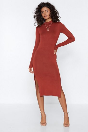 Womens Rust Number One Hit Bodycon Dress