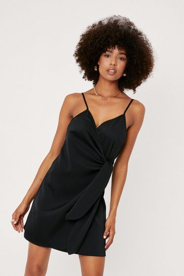 Black Night Out Satin Mini Dress