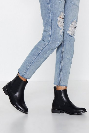 Womens Black Stood On the Edge Chelsea Boot
