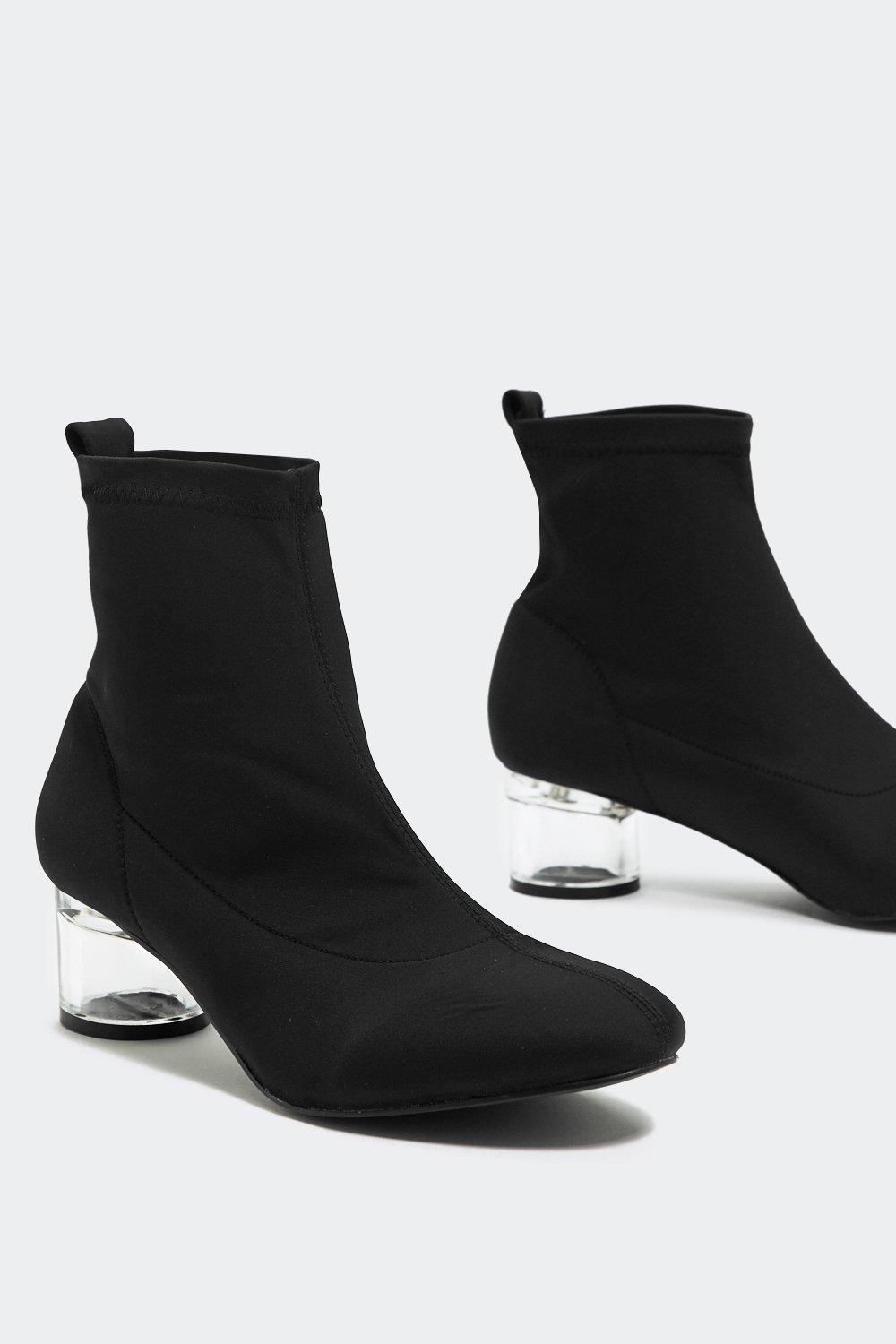 newest style 2020 new season Glass Half Full Sock Ankle Boot | Shop Clothes at Nasty Gal!
