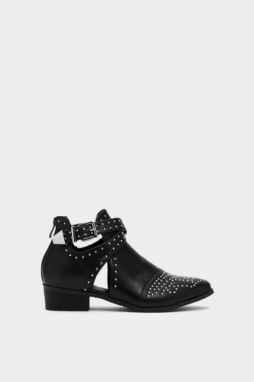 Womens Black On Stud-by Studded Boot