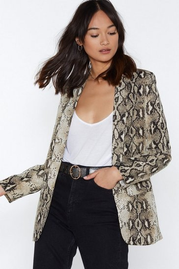 Blazer ample Serpent Une Minute, Beige