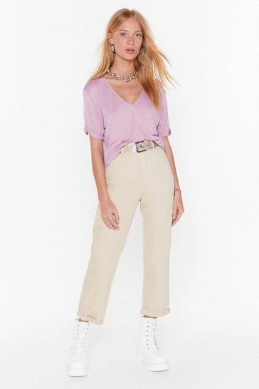 Womens Beige Stacey's Mom High-Waisted Jeans