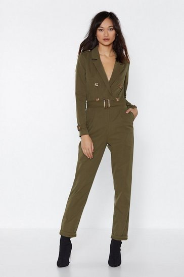 Womens Khaki Sergeant Major Jumpsuit