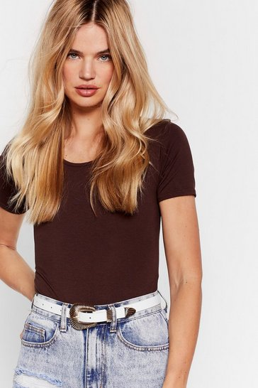 Chocolate Cover Your Basics Tee Bodysuit