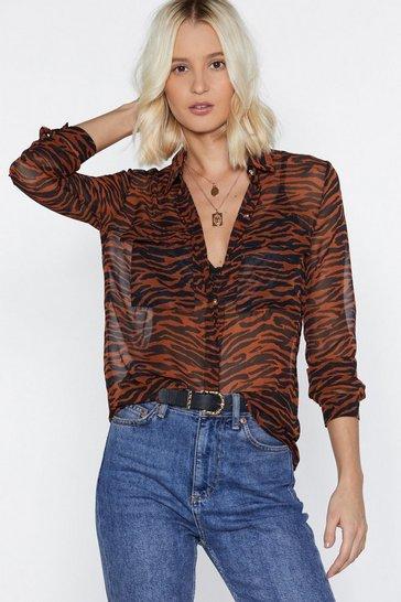 Rust Tiger Stripe Shirt
