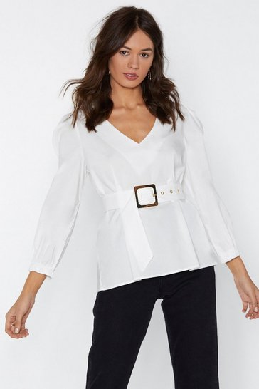 Womens White Unfinished Business Top