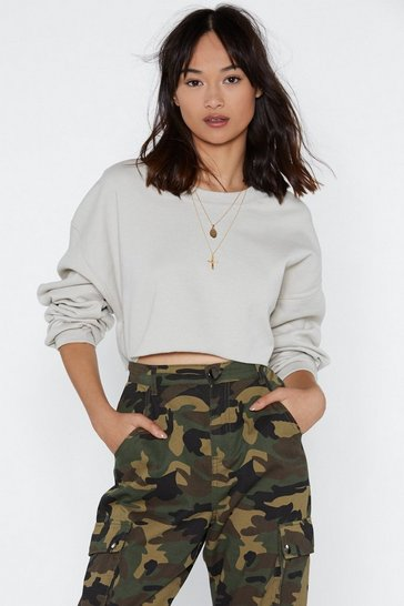 Sand You Can Make It Cropped Relaxed Sweatshirt