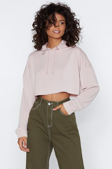 Nude All in Good Time Cropped Hoodie