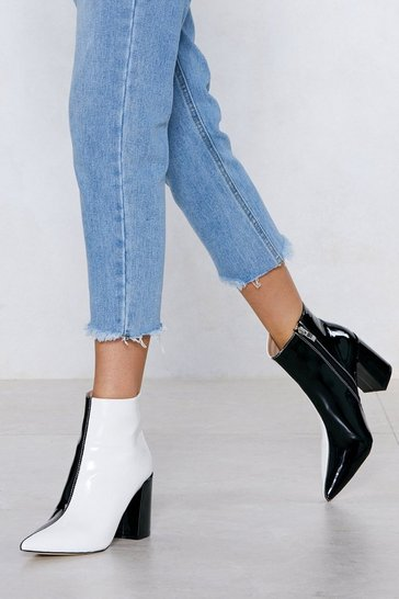 Black Double Take Two-Tone Boot