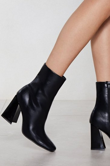 Black Flare for Dramatics Heeled Bootie