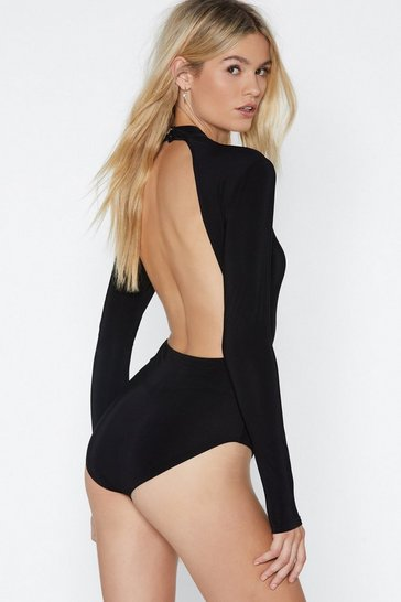 Black Want You Back Bodysuit