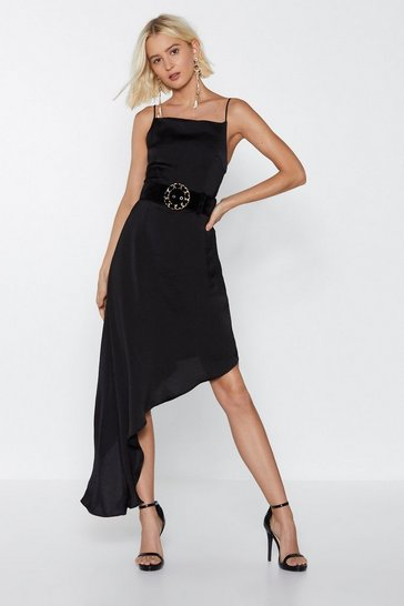 Womens Black Hide and Sleek Midi Dress