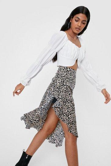 Black Don't Take It Purr-sonally Leopard Skirt