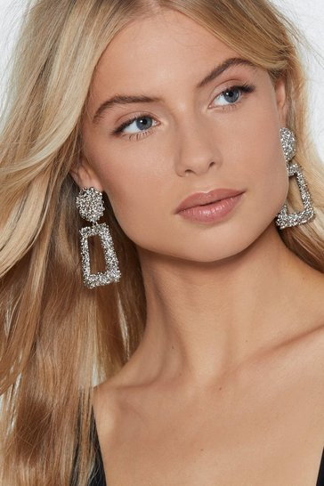 Silver Knock Knock Drop Earrings