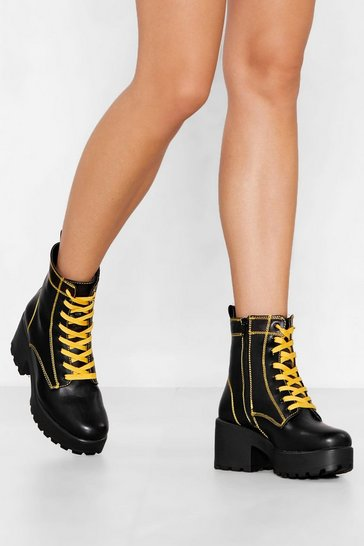 Black We Have Our Differences Chunky Boot