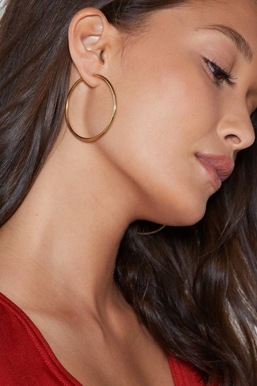 Womens Gold So Into You Hoop Earrings