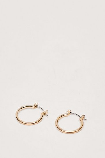 Gold Dainty Medium Hoop Earrings