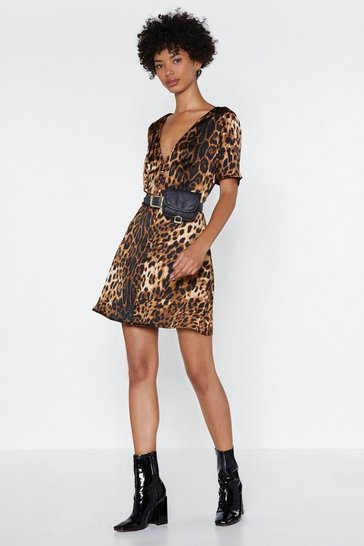 Womens Animal If Not Meow Leopard Dress