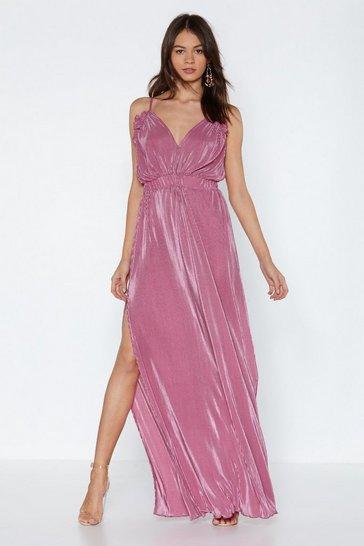 Mauve Grand Finale Maxi Dress