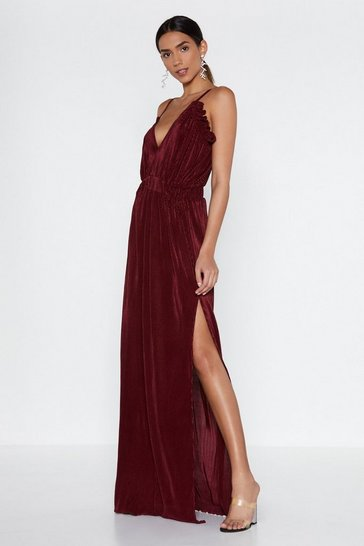 Womens Red Grand Finale Maxi Dress