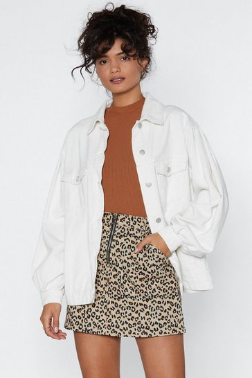 Womens Ecru Clean It Up Jacket
