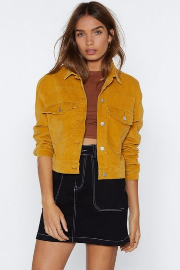 Womens Mustard My Sharona Cropped Jacket