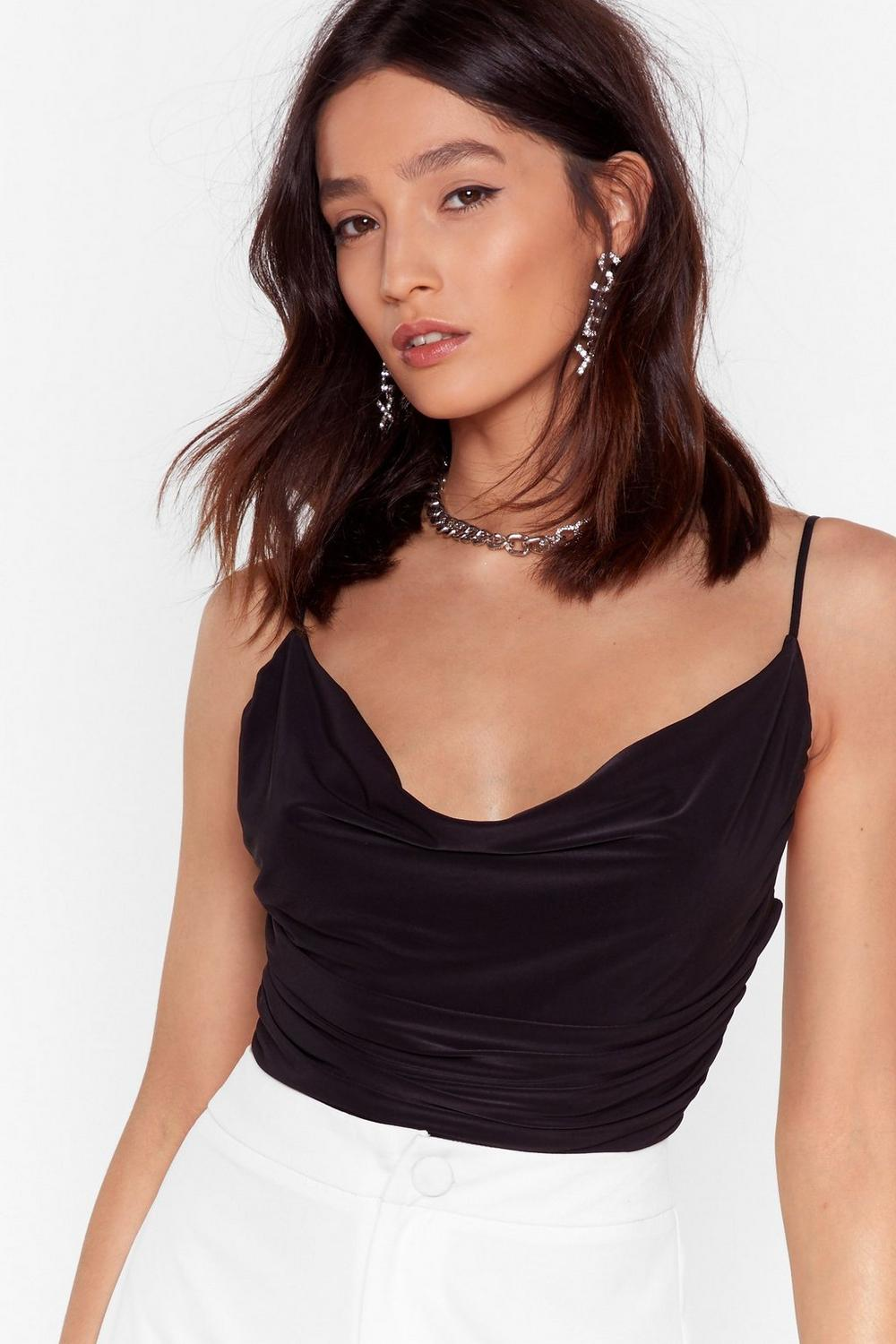 Cowl You're Here Bodysuit by Nasty Gal