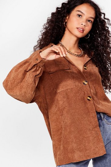 Brown Big Cord and Beautiful Oversized Shirt
