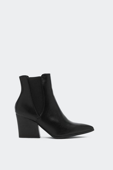 Womens Black Point Taken Chelsea Boot