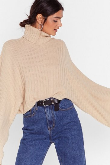 Biscuit Turtleneck Oversized Sweater