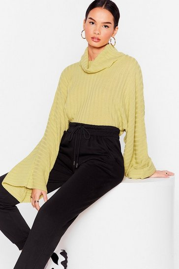 Green Call Knit a Day Oversized Sweater