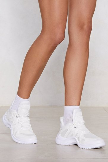 White Above the Curve Sneaker