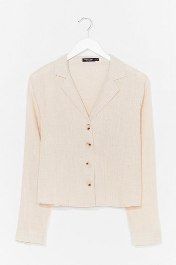 Ecru Shirt Feelings Linen Shirt