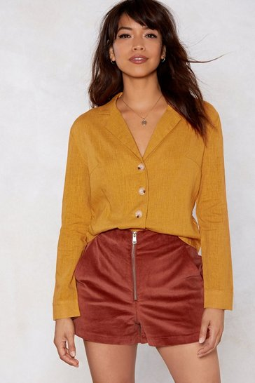 Mustard Shirt Feelings Linen Shirt